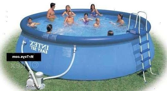 Oppustelig pool m bler til terrassen og haven for Intex pool billig